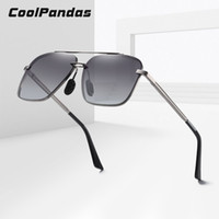 2020 Marca Men Oversized Sunglasses Men polarizada Praça Metal Frame Pesca Sun Glasses motriz para Mulheres UV400 zonnebril heren T200511