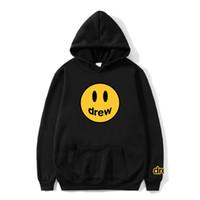 Hip-hop, Kapşonlu Sweatshirt Erkek Spor Uzun kollu Gevşek Katı Renk Hoodie Erkek Giyim yazdır Gülümseme