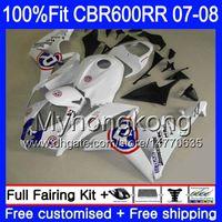 Blue R Witte Hot Injectie voor Honda CBR600 RR 07 08 CBR 600F5 600 RR F5 07 08 283HM.34 CBR600F5 CBR 600RR CBR600RR 2007 2008 FACKETSKITSEN