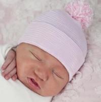Baby Hospital de Pom Pom borla recién nacido del niño recién nacido sombrero de hospital sombreros del bebé Nursery Beanie envío libre