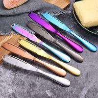 الفولاذ المقاوم للصدأ سكين الزبدة النمط الغربي الغذاء الخبز الجبن جام سكاكين مطبخ جديد متعدد الألوان أدوات المائدة 6 5ry UU