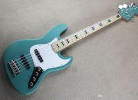 Maple Fingerboard, 5 Strings, Krom Donanım, Beyaz Pickguard, Özel Teklif ile Toptan Mavi Elektro Gitar Bas