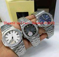 3 estilo de lujo reloj reloj reloj de pulsera superior PF Fábrica 904L de acero Nautilus Case Edición con textura Dial CAL.324 5711 / 1A-011 Mecánico de plegado automático