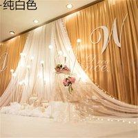 Perde Newstyle Avrupa arka plan dekorasyon iplik düğün günü prop sahne birçok renk ekran fabrika doğrudan satış 208gg P1