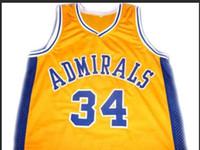 Özel Erkekler Gençlik kadınlar Vintage ## 34 Kevin Garnett Amiraller Koleji Basketbol Jersey Boyut S-4XL veya özel herhangi bir ad veya numara forması