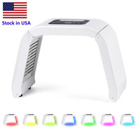 Lager in den USA 7 Farbe LED PDT Light Skins Care Beauty Machine Facial Spa Photodynamische Therapie für Hautverjüngung Akneentferner