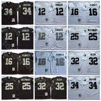 NCAA Футбол 34 Бо Джексон 16 Джим Планкеттт 32 Маркус Аллен Трикотажные изделия 25 Фред Билетникофф 12 Кен Stabler Лестер Хейс Человек Винтаж черный белый