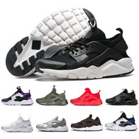 nike air huarache huaraches 4,0 1,0 Chaussures de course Triple White Black Black Red Men Womens Outdoor Outdoor Sneakers