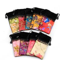 الحرير الصينية القطيفة الحقائب حقائب مجوهرات البسيطة القابلة لإعادة الاستخدام الحقيبة اليدوية النسيج الرباط هدية حقيبة التخزين