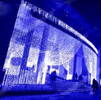 10x4m 10x5m LED Tenda per il Ghiacciolo String String Fairy Lights Christmas Holiday Ghirlands per matrimoni / Partito / Tenda / Decorazioni da giardino LLFA