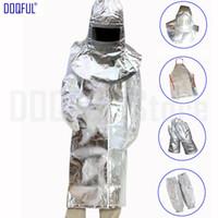 1000 Diplôme Foil thermique en aluminium de rayonnement Casque tablier Gants bras Manchettes sécurité de travail résistant à la chaleur Coulée Retardant feu