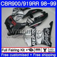 Bodys For HONDA CBR 919RR CBR 900RR Repsol silver hot CBR919RR 1998 1999 278HM.29 CBR900RR CBR 919 RR CBR900 RR CBR919 RR 98 99 Fairing kit
