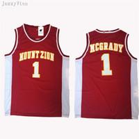 2ff846b8baa7 hot College McGrady Jersey 1 Christian MT.ZION T-Mac Mountzion Basketball  Jerseys Team Color Black Breathable University jerseys shirts