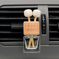 Désodorisant suspendu bouteille en verre pour les huiles essentielles bouteille de parfum en cristal voiture voiture de coiffure ornement auto parfum Pendentif X1602
