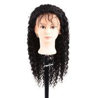 360 Parrucca frontale in pizzo Parrucca per capelli umani ondulati per donne nere Parrucca brasiliana Remy 150% pre pizzicata con capelli per bambini