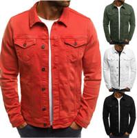Erkek Ceketler Vintage Düz Renk Denim Kovboy Gömlek Erkek Kadın Kış İnce Ceket Rahat Ceket B500607