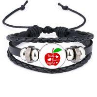 Enseigner Amour inspirer Charme Bracelets Pour Femmes Hommes Main tressé En Cuir Corde Corde Wrap Bracelet Bijoux De Mode Enseignant Jour cadeau