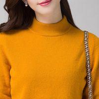 بالجملة، المرأة الساخن بيع البلوزات الكشمير 100٪ البلوفرات 2016 في فصل الشتاء الأزياء الجديدة 10 الألوان السيدات الملابس المدورة القمم الدافئة