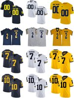 Michigan Wolverines College futebol camisa 2 Woodson 3 Rashan Gary 7 Khaleke Hudson 12 Evans Kinnel 5 pimentas 10 Tom Brady 4 Jim Harbaugh