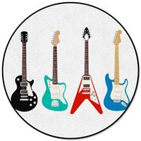 Guitar Bass Jazz Music Classic Round Carpets For Living Room...