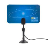 Freeshipping 1pcs HDTV DTV VHF UHF PC NB 평면 디지털 실내 HD TV 높은 이득 안테나 1080 승 프로모션