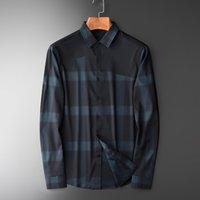 Erkek Gömlekler Günlük 4XL lu İplik Boyalı Ekose Erkekler Gömlek Lüks İpek Kumaş İş Boş Izgara Erkek Elbise Gömlek Plus Size