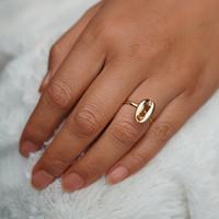 Vintage antike Silber Kaurischnecke-Ringe für Frauen Boho Ocean Beach Seashell Ring Anillos Mujer Bague Femme R629