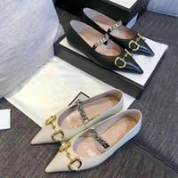 estate 2020 scarpe da sera donna nuovo progettista 100% del marchio di moda in pelle scarpe a punta metallica lettera di lusso della signora piatto dimensioni scarpe casuali 35-41