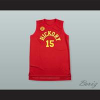 Yeni Jimmy Chitwood 15 Hickory Hoosiers Lise Basketbol Jersey-1Custom Herhangi bir Numara Herhangi Bir Numara Ücretsiz Kargo