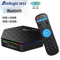 T95Z Plus Android 7.1 TV Kutusu Amlogic S912 2 GB / 3 GB RAM 16 GB / 32 GB Çift WiFi 2.4G + 5G Bluetooth 4.0 PK T95
