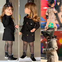 Детские девушки пальто куртки детская одежда мода верхняя одежда детей осенний пальто