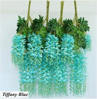 Artificial Wisteria Flowers Fake Wisteria Vine Hanging Garla...