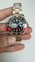 Luxo Top Quality Assista 40mm GMT 126715 126715CHNR Cerâmica Swiss ETA 2836 Movimento Automático Mens Relógios Relógios De Pulso