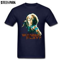 공포 영화 어린이 놀이 처키 레트로 T 셔츠 남성 크루 넥 반팔 T 셔츠 인기있는 십대 일반 남성 정장 셔츠