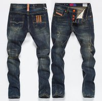 New 2020 jeans Mens repair straight retro Do old Little feet men Long pants retro Jeans size 28-40