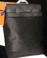 Черный цветок классический цвет Бленд Mens рюкзак 2020 Пароварка из натуральной кожи хорошего качества Хобо сумки 45 * 32 * 16см горячей продажи M43296