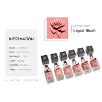 Fabricante mayorista O.TWO.O líquido Blush Lasting sedoso Brightening cosmética para la cara de 6 colores Orgasmo Rose Rouge I0203