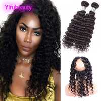 Peruvian Deep Wave Bundles With Frontal 8- 28 Inch 2 Bundles ...