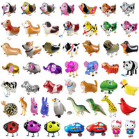 Gehende Haustier-Ballon-Tier Helium Folienballon für Weihnachten Hochzeit Geburtstag Partyangebot für Kinder Cartoon Spielzeug Geschenke 40Styles XD21786