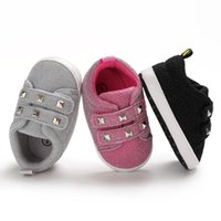 Baby Girls Boys Glitter fabric Rivets Sneakers Toddlers fash...