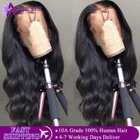 Pelucas del cabello humano del frente del cordón Transparente HD 360 encaje Peluca frontal del cordón 150% de densidad Peluca delantera Remy 13x4 onda brasileña del cuerpo
