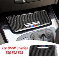 الديكور الغلاف لوحة حقيقية من ألياف الكربون السيارات الداخلية تخزين مربع ملصقات اكسسوارات السيارات لBMW 3 سلسلة E90 E92 E93 05-12