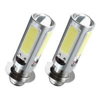 2 Pcs Branco COB LED Motor Bike / ATV da lâmpada do farol Lâmpada H6M PX15d Voltage Regulator Indicator Motorcycle Nevoeiro Motocicletas Luzes