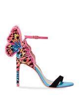 2020 الحلو النساء الصنادل فراشة رقيقة أحذية الكعوب العالية إمرأة سيدة الصيف مضخات تو فتح أحذية حفل زفاف