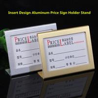 Küçük Boyutlu L Şekli Alüminyum Masa Burcu Fiyat Etiketi Etiket Ekran Standı Fiyat Kağıt Süpermarket Için Kağıt Kart Sahibinin, hediye mağazası