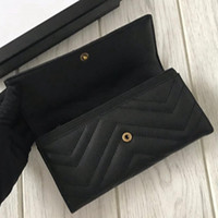 New Fashion Wallets Purse High Quality Leather Soft Credit Card Holders Wallets For Women Brand Designer Clutch Purse Free Shipping