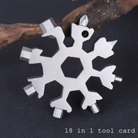 18-In-1 Multi-functional Snowflake Hand Tools Card Party Handy Screwdriver Mini Craft Tool Set Portable Key Chain Home Outdoor
