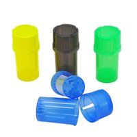 Colorful Container 3 Parts Plastic Grinder Secure Herb Grind...