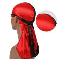 Marken-Designer Silky Durag Männer Turban Bandana Kopfbedeckung Stirnband Headwrap Piraten-Hut-Kappe der Männer Radfahrer-Caps Hüte Haarschmuck