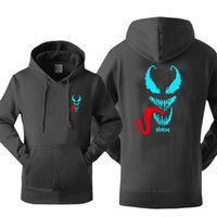 New Arrival Luminous Men' s Hoodies 2019 Venom Print Hoo...